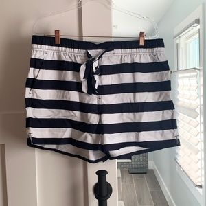 Loft  - Striped Belted Shorts